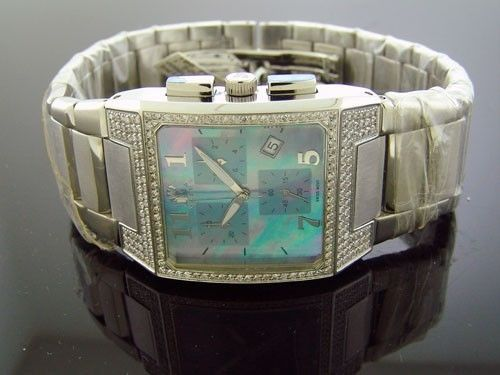 SWISS MOVT AQUA MASTER 1.50CT DIAMONDS STAINLESS STEEL BAND