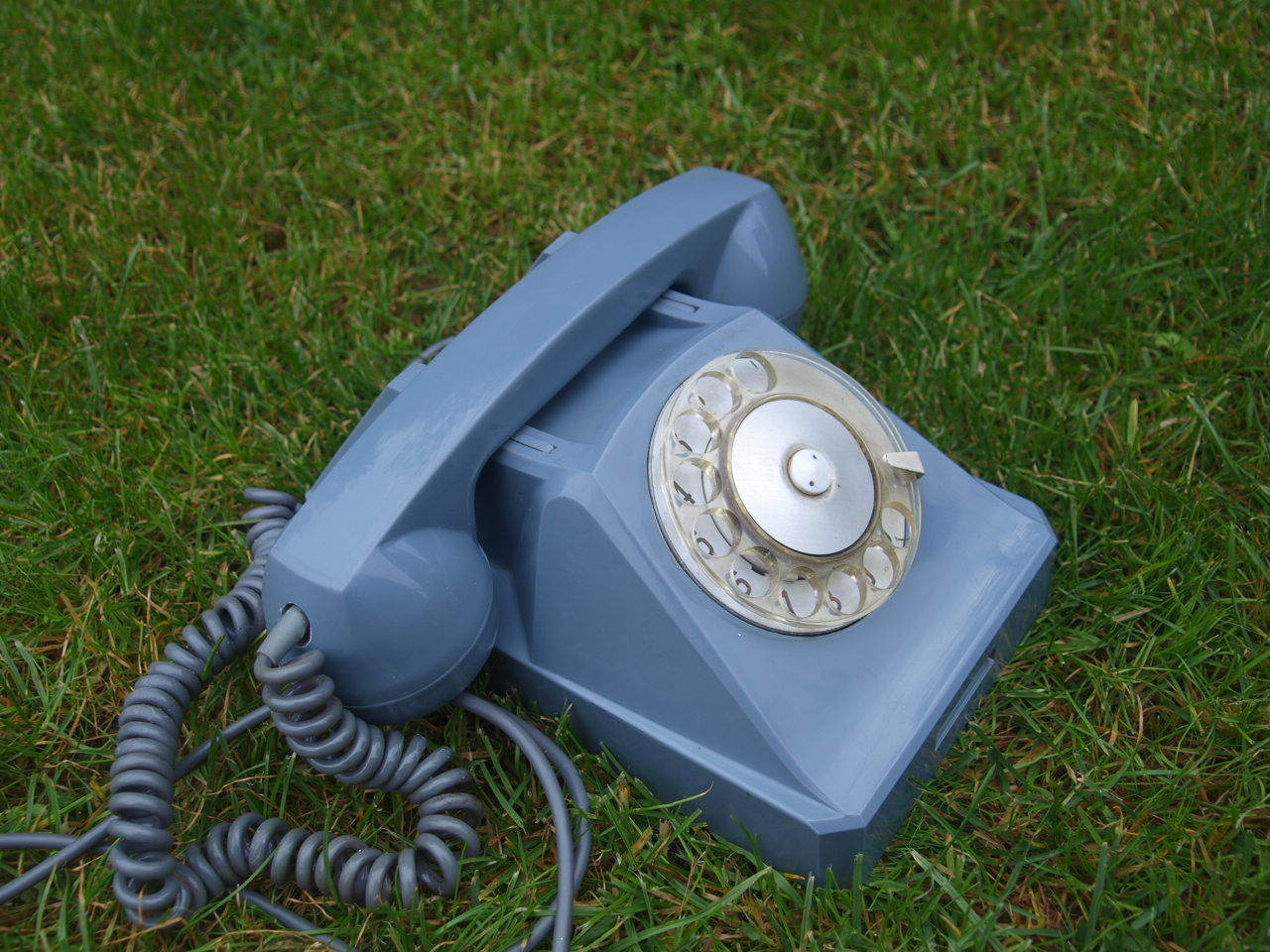 ANTIQUE RARE USSR SOVIET RUSSIAN ROTARY DIAL PHONE GREY COLOR 1970