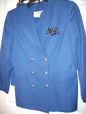 KASPER A.S.L. PETITE 2 PC SUIT WOMEN'S PRETTY BLUE SIZE 10P