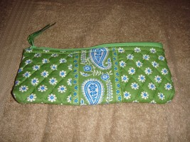 Vera Bradley Apple Green Brush Pencil Case - $20.99