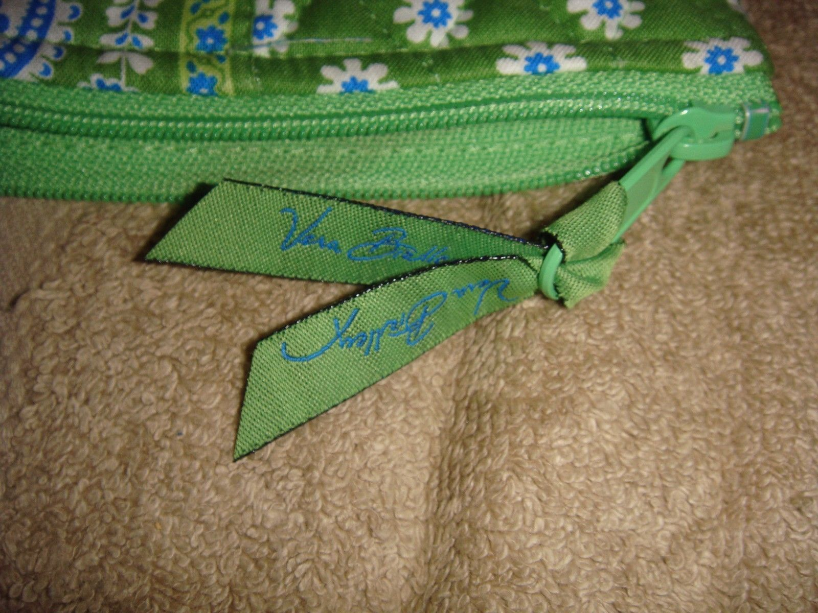 Vera Bradley Apple Green Brush Pencil Case