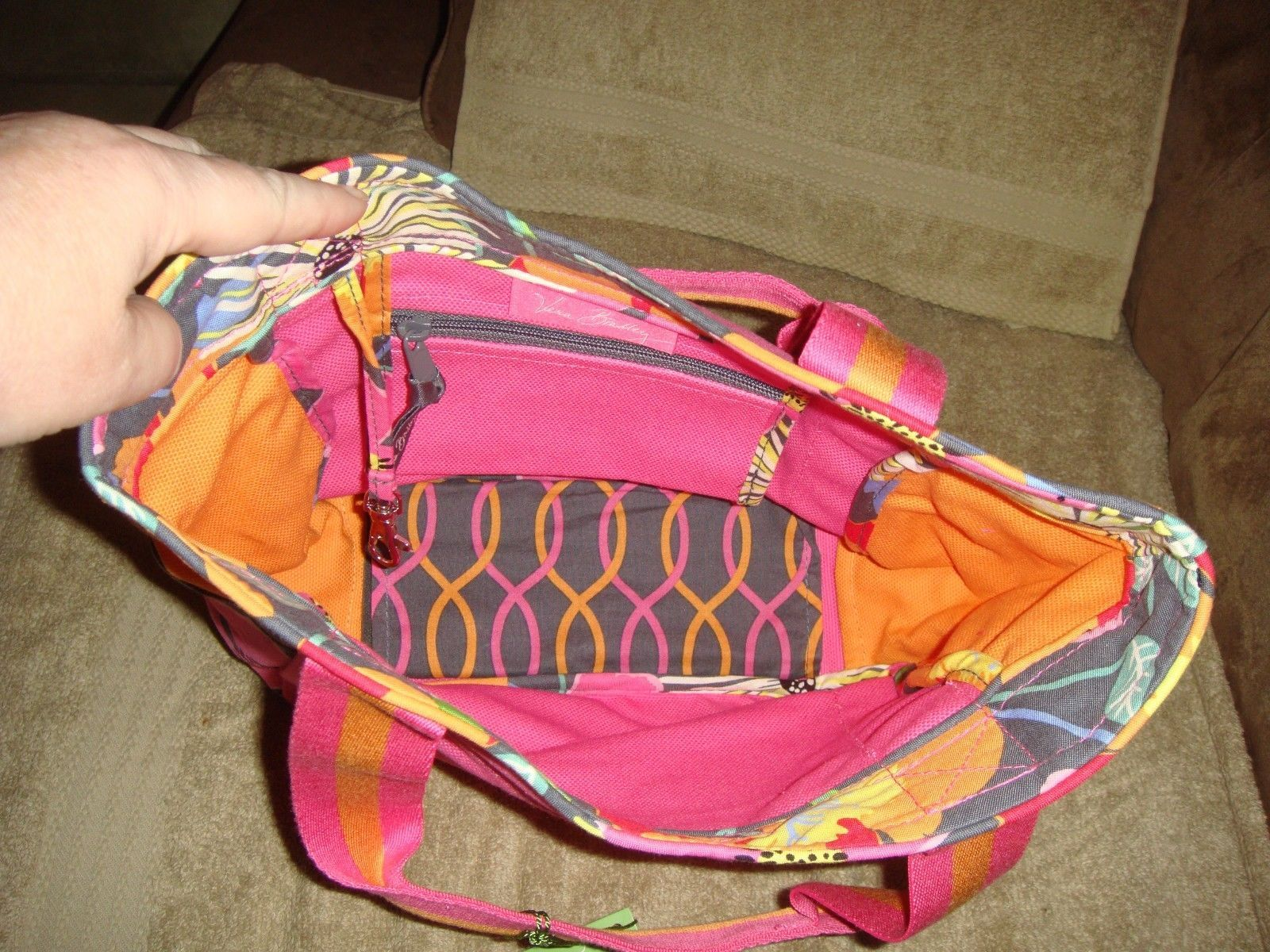 Vera Bradley Jazzy Blooms Small Colorblock Tote NWT