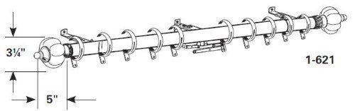 "Graber 1 1/2"" Alexandria Traverse Rod, D-Profile (48 to 84"" Adjustable) - Brass"