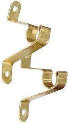 Graber Cafe Curtain Rod Brackets, Brass (1 Pair)