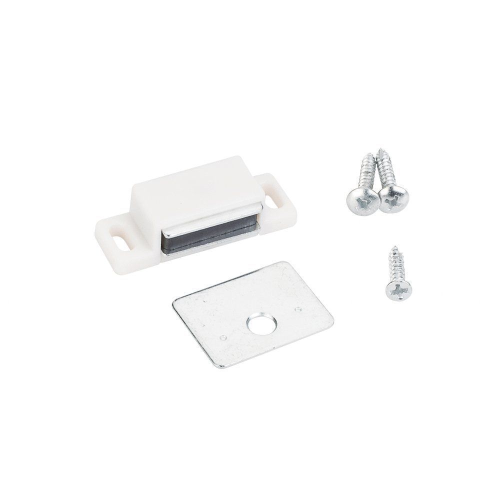 5 QTY: Shutter/cabinet Magnets - White - 13 Lb. Pull Force