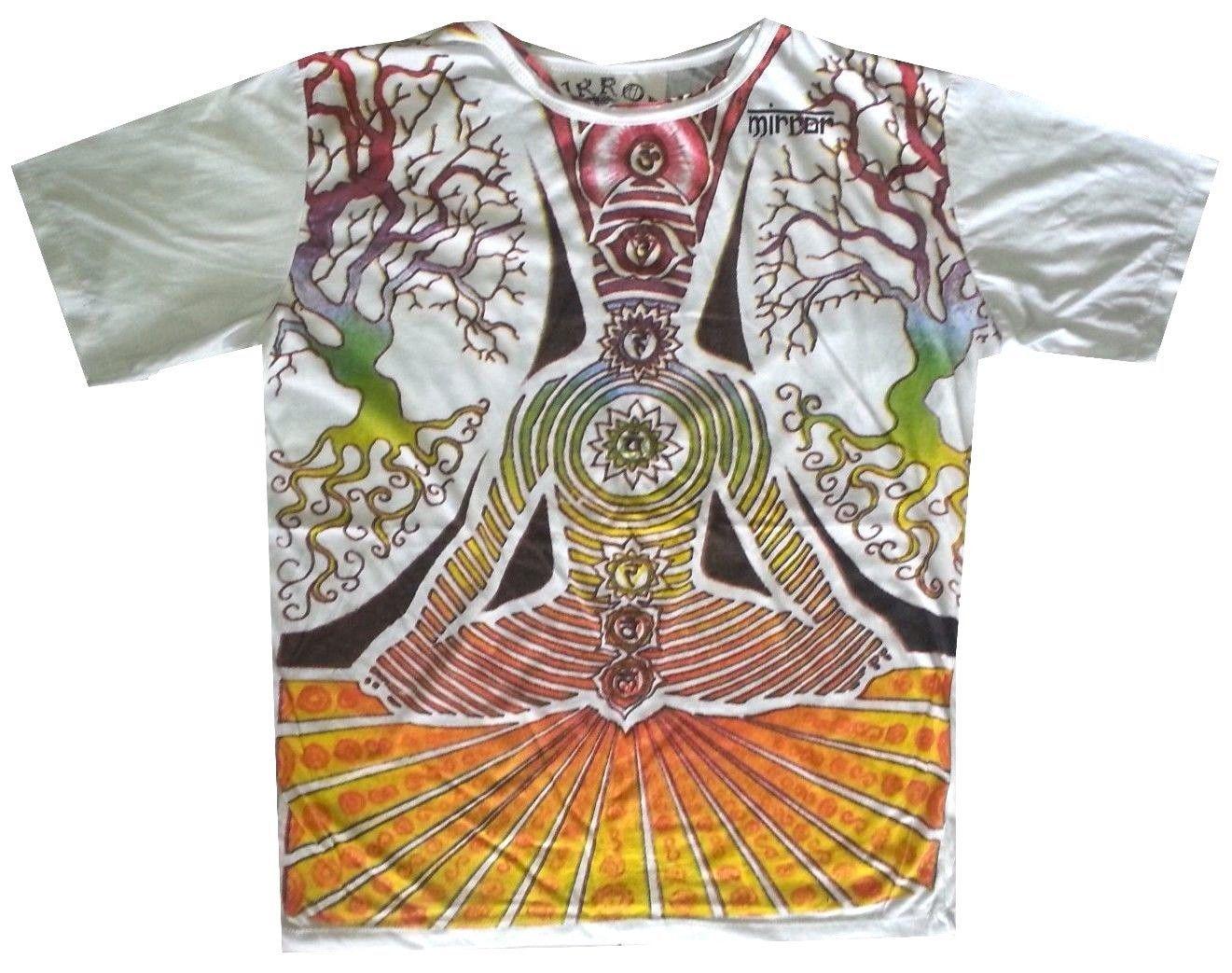 ch Men T Shirt YOGA MEDITATION BUDDHA eye Zen HIPPIE Peace Hobo Boho L MIRROR x