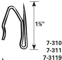 Graber Heavy-Duty Offset Pin-On Drapery Hooks, 14 Hooks per Pack