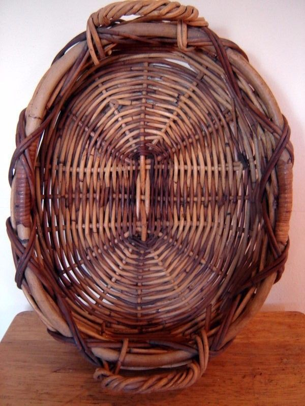 Vintage Willow Wicker Serving Tray