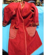 Pirate Costume Wool Frock Coat French Army Officer Lined Burnt Orange Prop - $98.11