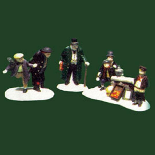 "Department 56 ""Oliver Twist"" Set of 3 Dickens Village Accessories"