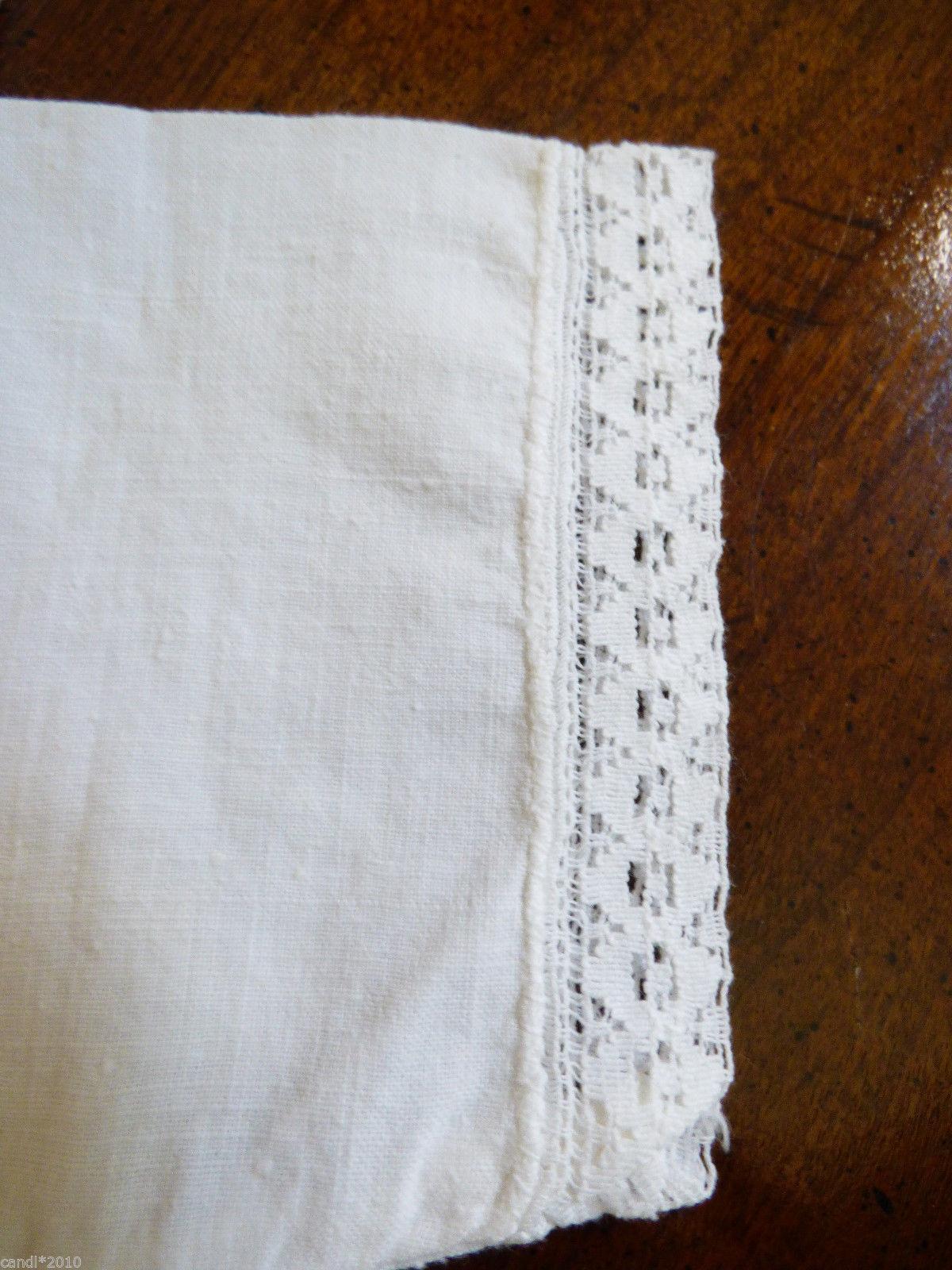 VTG 1960's Russian Newborn baby cotton lace under shirt lot of 2 Rasposhonka