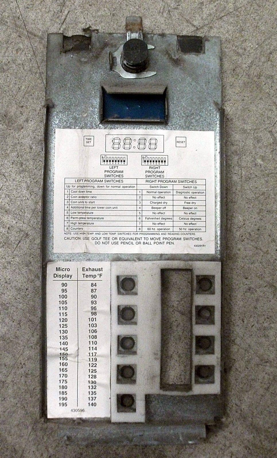 Huebsch Speed Queen Wascomat Lower Dryer Control Faceplate Model jtd32dg