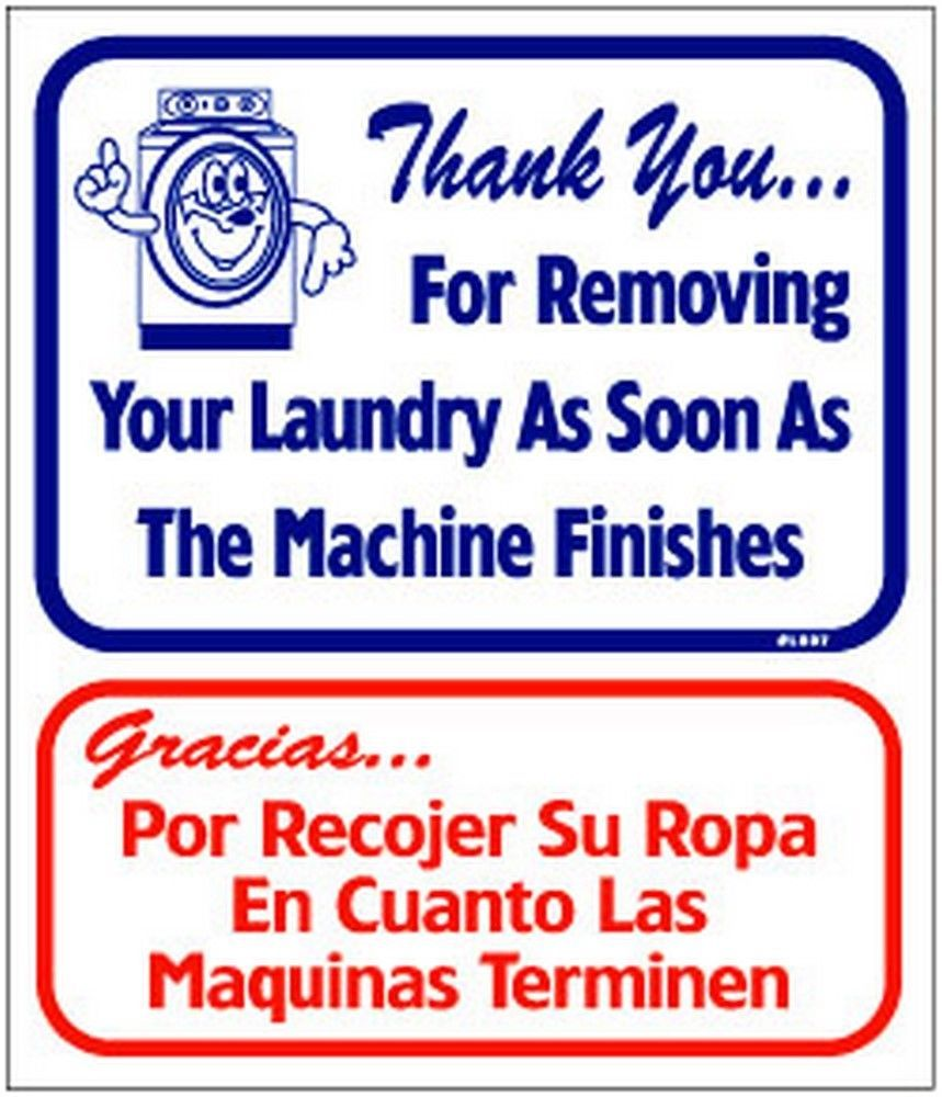 """L807 """"Thank you for removing your laundry as soon as the machine finishes"""" Model"""