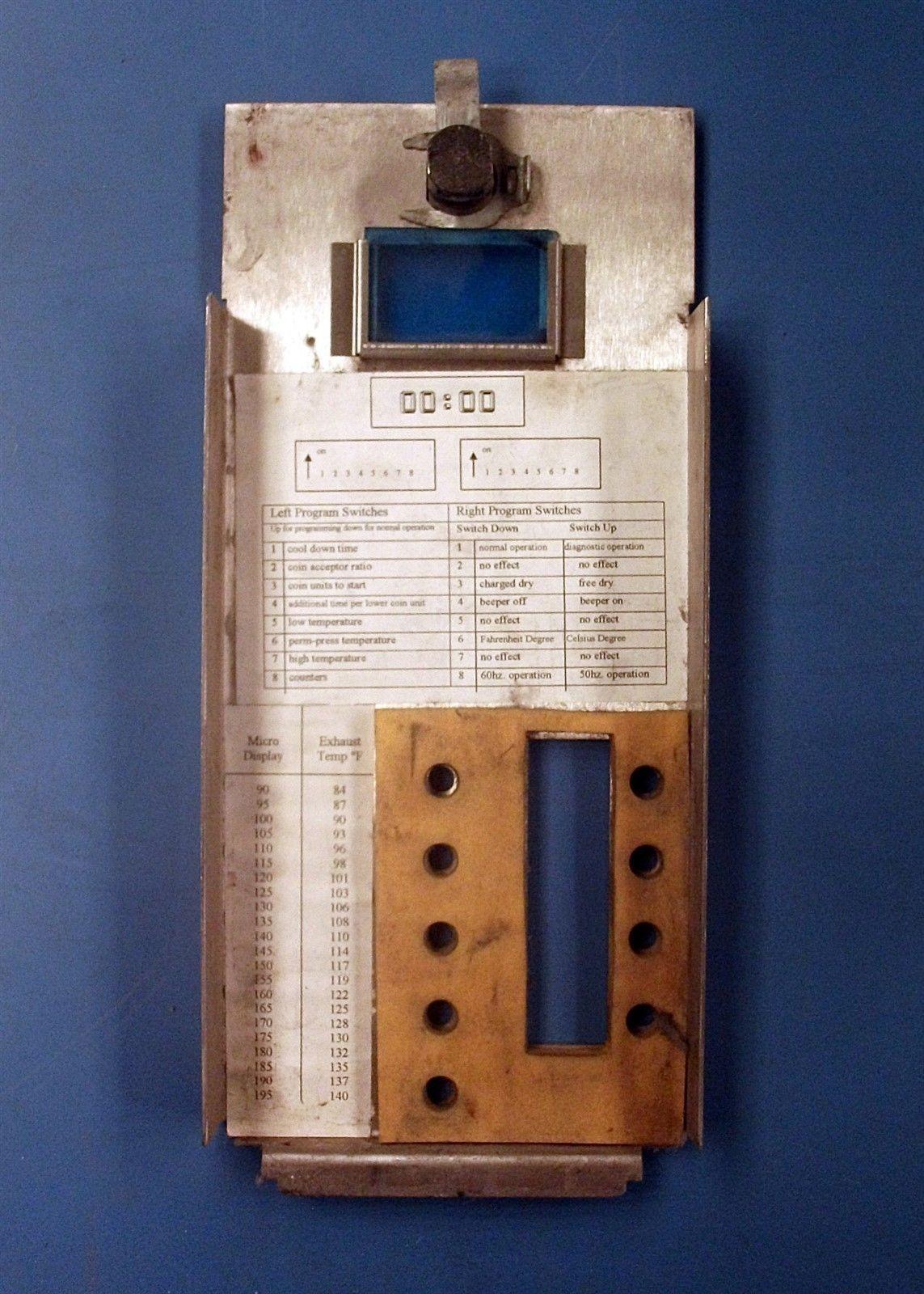 Wascomat Huebsch Speed Queen Upper Dryer Control Faceplate Model jtd32dg
