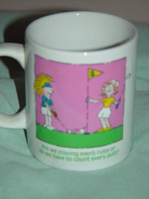 Two Woman Playing Golf  Mug Coffee Cup