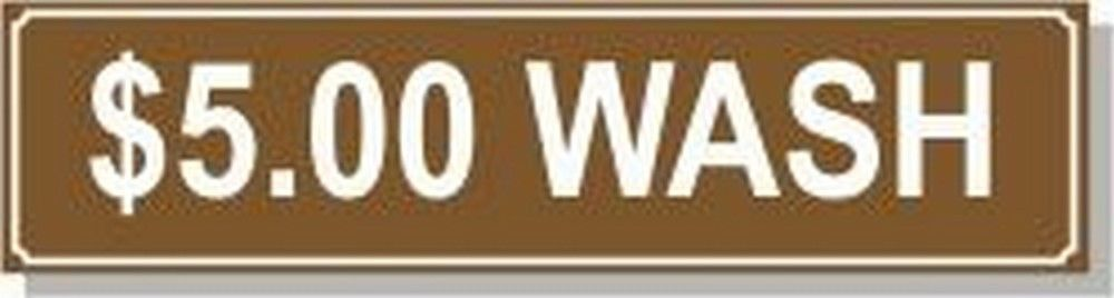 Washer Pricing Decal  PD $5.00W Model Number PD $5.00W
