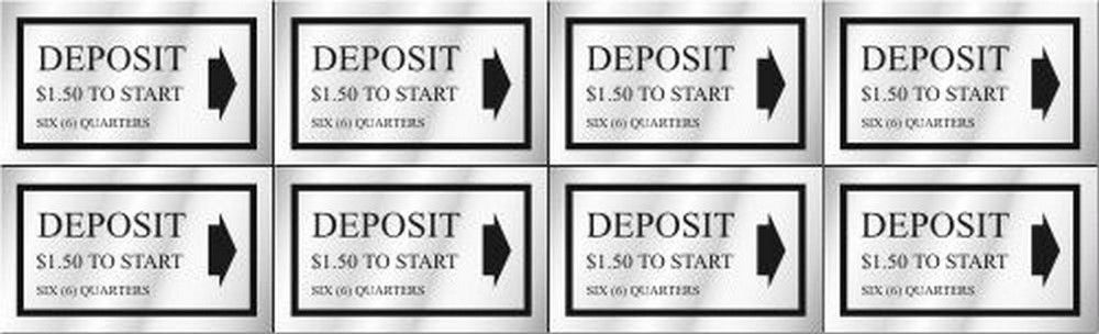 Washer Pricing Deposit Decal  WP $1.50 Model Number WP $1.50