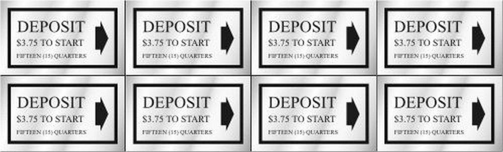 Washer Pricing Deposit Decal  WP $3.75 Model Number WP $3.75