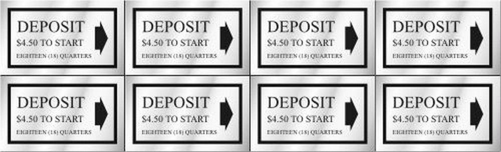 Washer Pricing Deposit Decal  WP $4.50 Model Number WP $4.50
