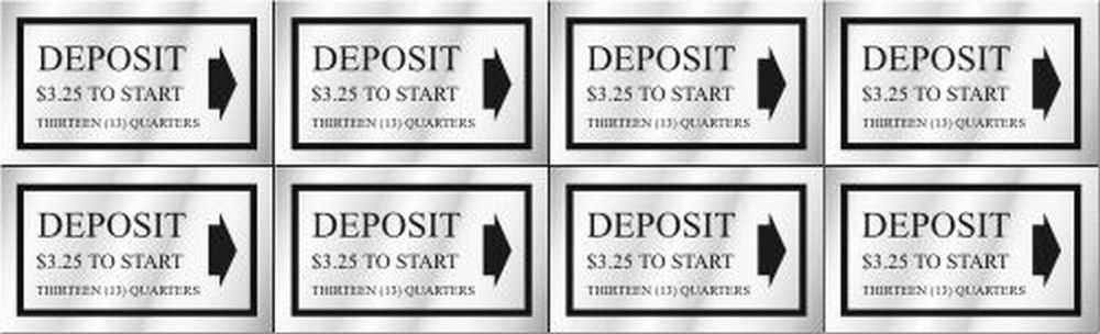 Washer Pricing Deposit Decal  WP $3.25 Model Number WP $3.25