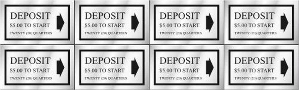 Washer Pricing Deposit Decal  WP $5.00 Model Number WP $5.00