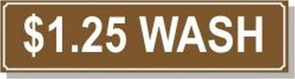 Washer Pricing Decal  PD $1.25W Model Number PD $1.25W