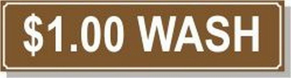 Washer Pricing Decal  PD $1.00W Model Number PD $1.00W
