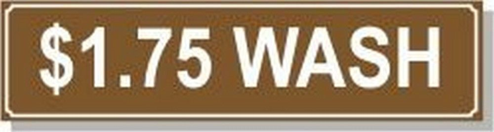 Washer Pricing Decal  PD $1.75W Model Number PD $1.75W