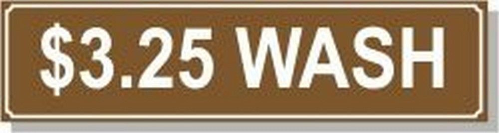 Washer Pricing Decal  PD $3.25W Model Number PD $3.25W