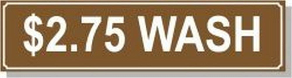 Washer Pricing Decal  PD $2.75W Model Number PD $2.75W