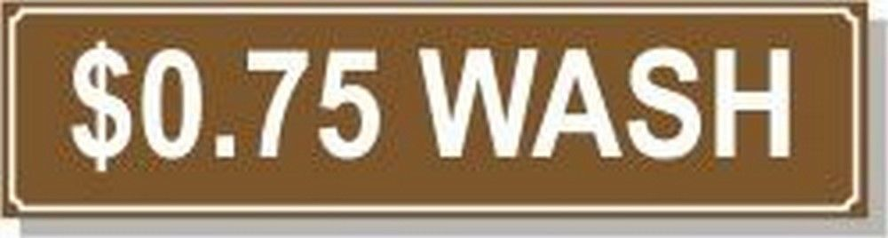 Washer Pricing Decal  PD $0.750W Model Number PD $0.750W