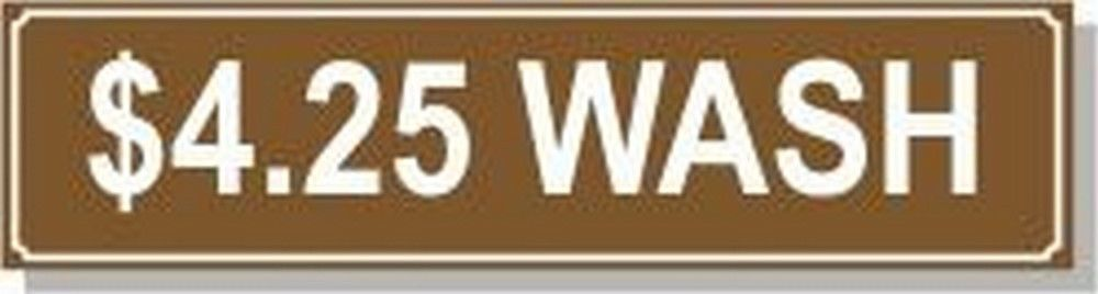 Washer Pricing Decal  PD $4.25W Model Number PD $4.25W