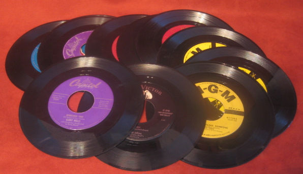 Records Eddie Fisher Pat Boone Corey Scott Ray Lot Vinyl My Fair Lady Vtg 45