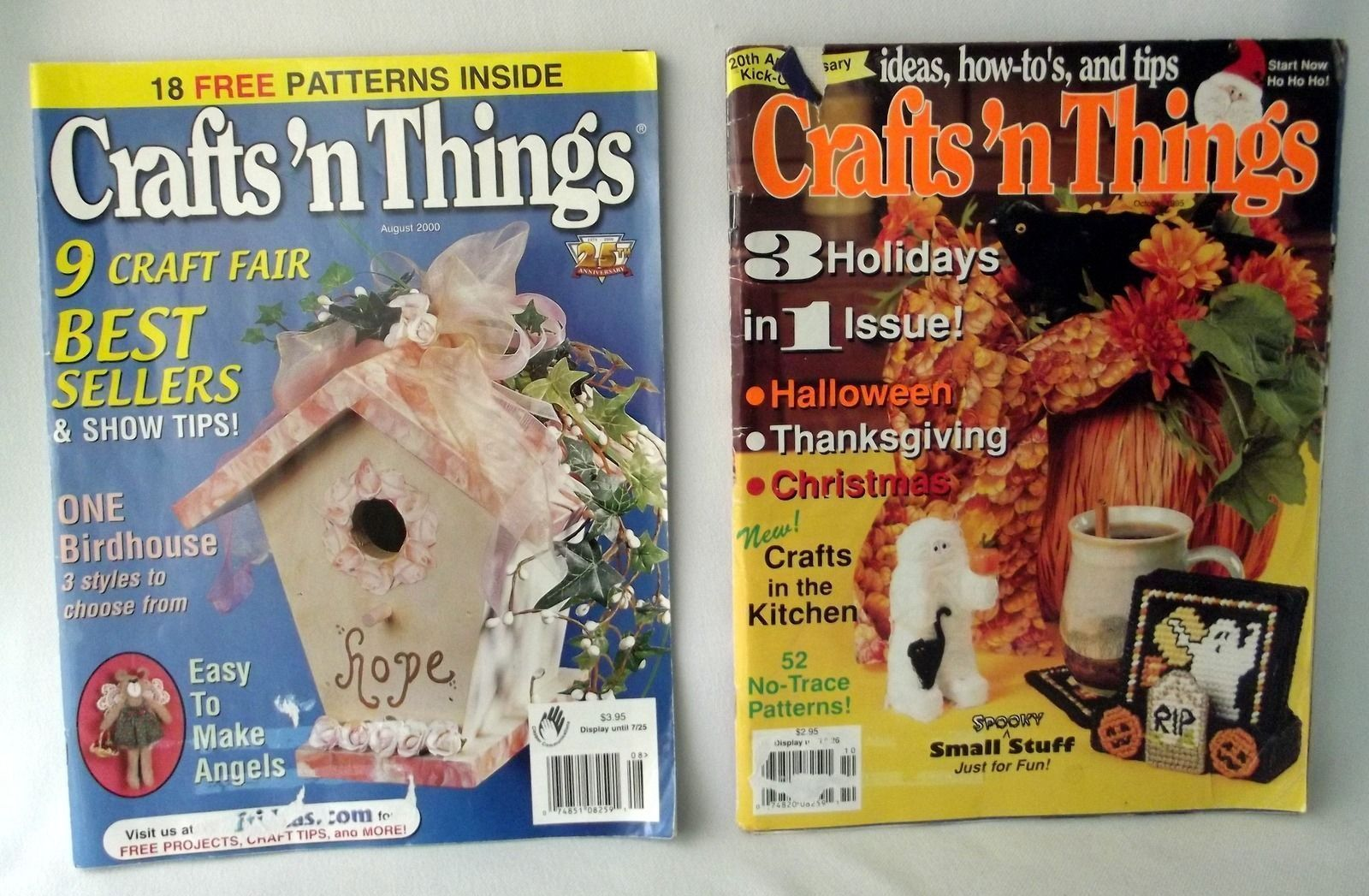 Crafts 'n Things Magazines Halloween Christmas 1995 2000 Birdhouse Ideas Dolls