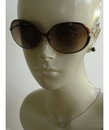 New Lulu Guinness L518 Sunglasses With Patent Leather Case & Cloth 100% UV - $38.50