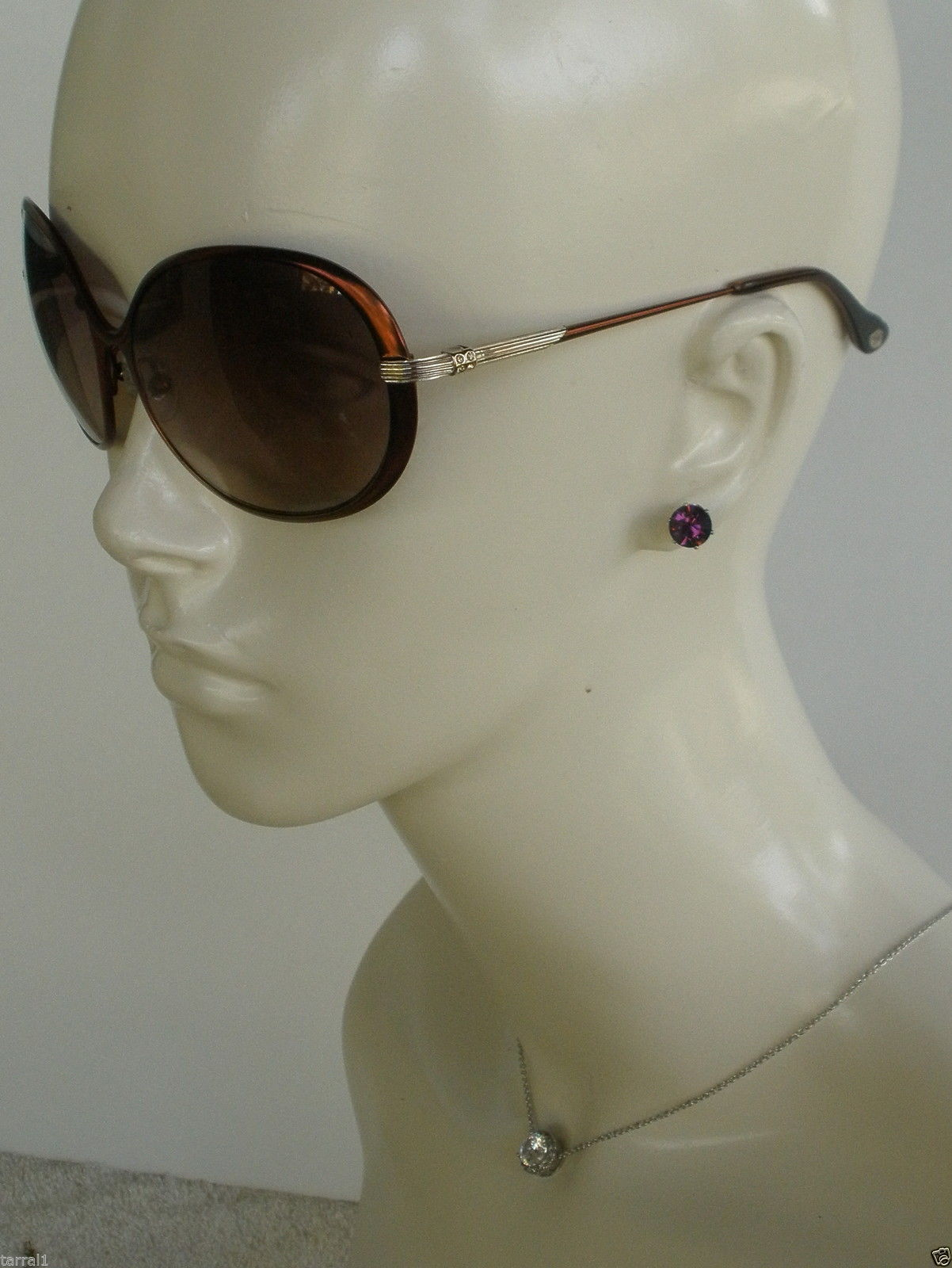 New Lulu Guinness L518 Sunglasses With Patent Leather Case & Cloth 100% UV