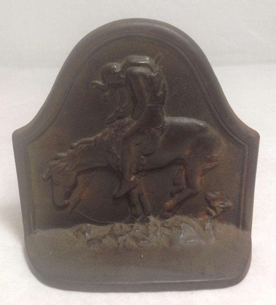 The Last Trail Bookends End of the Trail Native American on Horse. COPR 1928