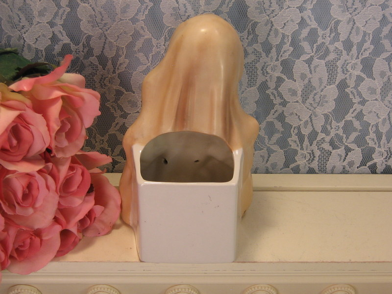 Vintage Norcrest Original Madonna Praying Figurine Planter, Mid Century