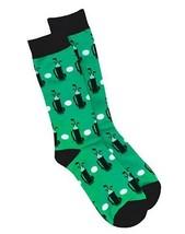 Hanes Men's Golf Crew Socks 1 Pair Green, Black & White  10-13 - $13.02
