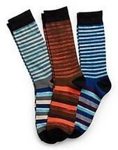 Hanes Men's Random Stripe Crew Socks 3-Pack 10-13 Blues, Orange, White, ... - $16.74
