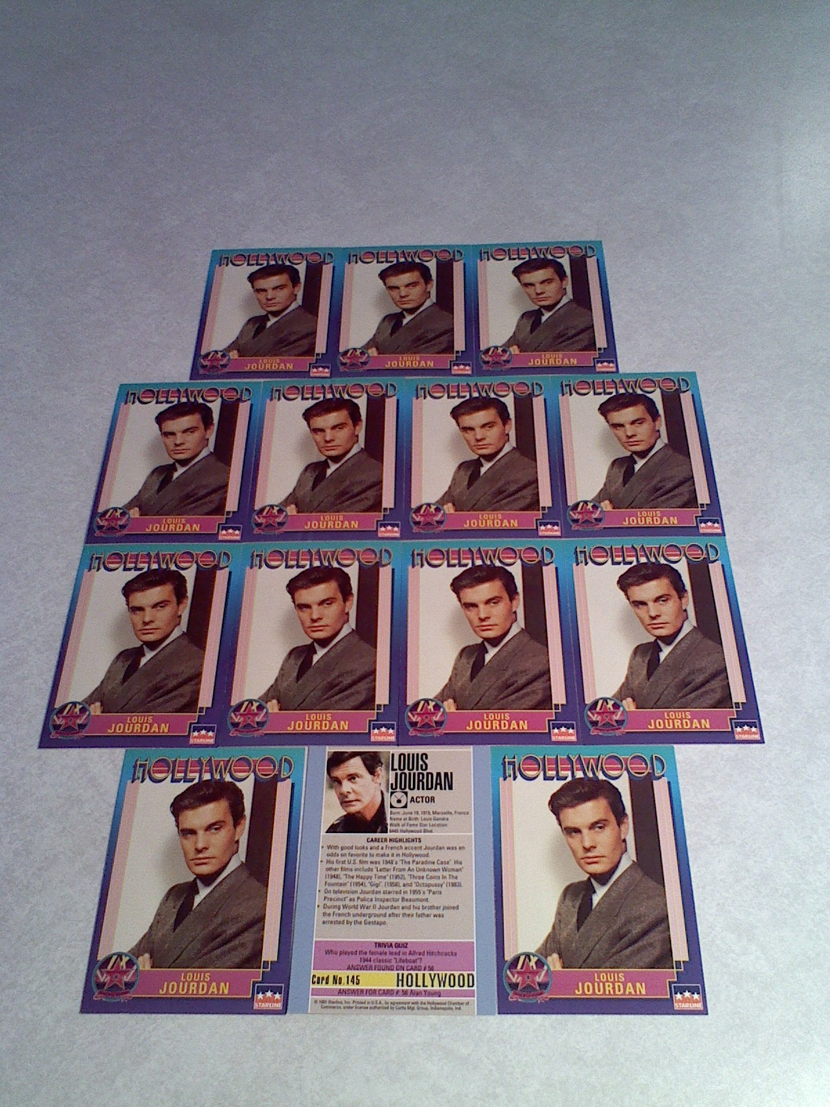***LOUIS JOURDAN***   Lot of 14 cards / Hollywood Walk of Fame