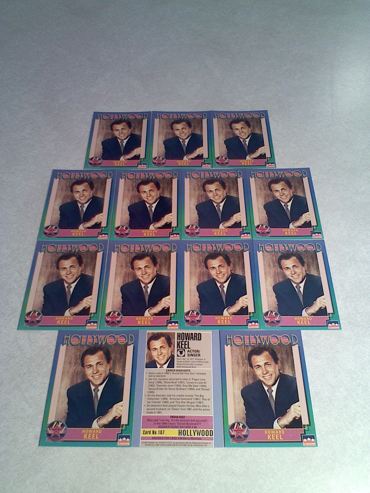 ***HOWARD KEEL***   Lot of 14 cards / Hollywood Walk of Fame