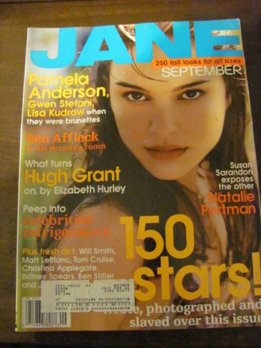 JANE magazine, complete, Sep 1999, Natalie Portman on cover