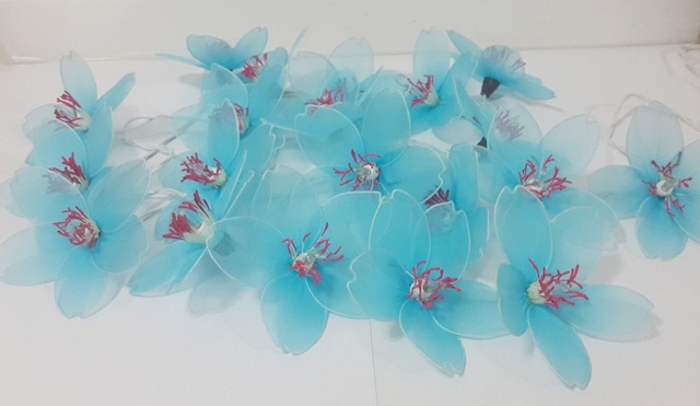 STRING LIGHTS CHRISTMAS CLASSIC BLUE APRICOT FLOWERS 20 PARTY,DECOR,WEDDING