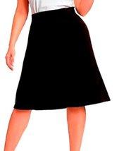 DBG Women's Slim Lady High Waisted A Line Skirt Large Black - $25.47