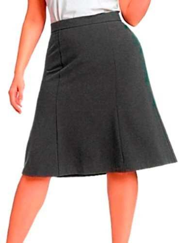 DBG Women's Slim Lady High Waisted A Line Skirt 3XL Gray