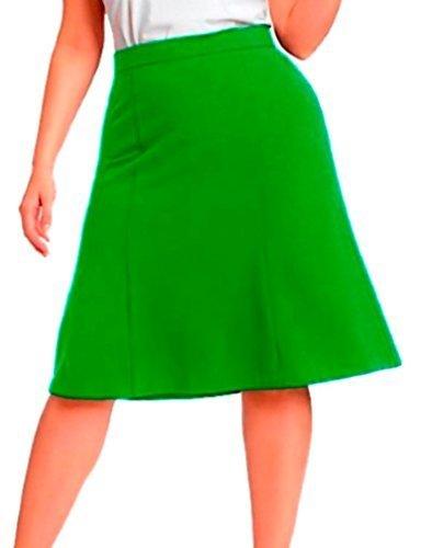 DBG Women's Slim Lady High Waisted A Line Skirt 3XL Maroon