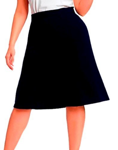 DBG Women's Slim Lady High Waisted A Line Skirt Medium Navy Blue