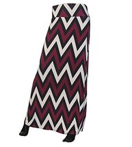 DBG Women's Women's Print Color Maxi Full Length Skirts (XS, Black Beige Burg... - $25.43