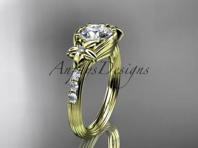 G333 yellow gold  diamond wedding ring  diamond engagement ring  forever brilliant moissanite  1
